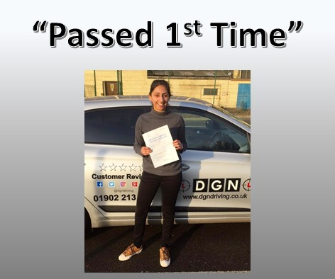 Recent Practical Driving Test Pass Wolverhampton